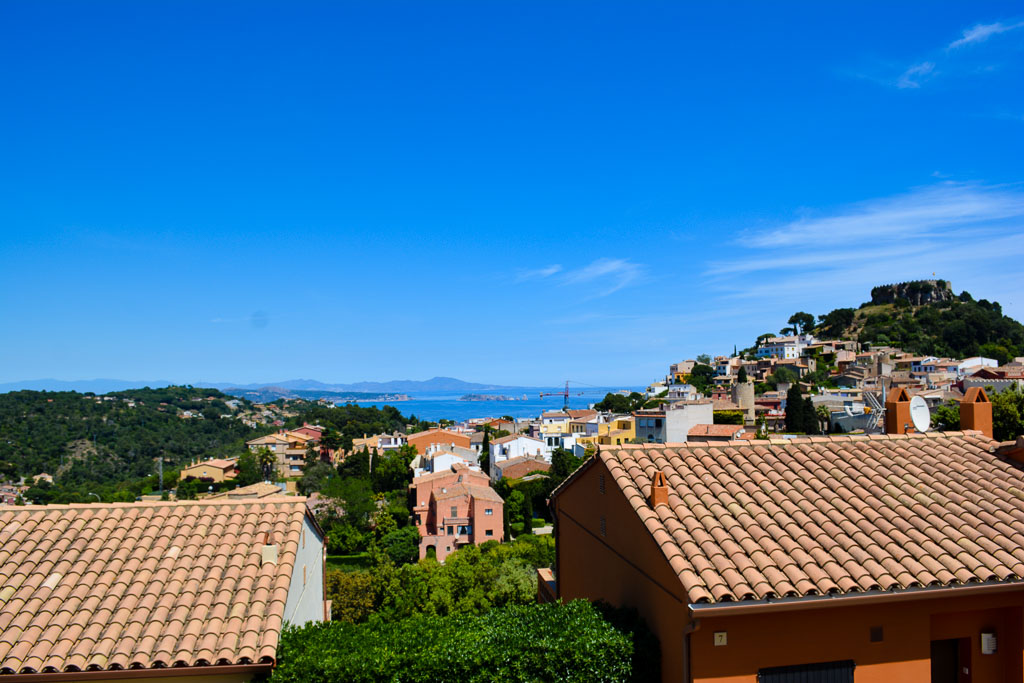 Panorama of the town of Begur