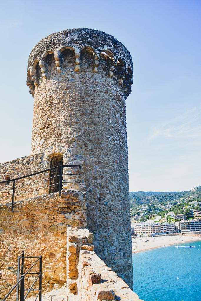 Turret of the Old Castle of Tossa de Mar