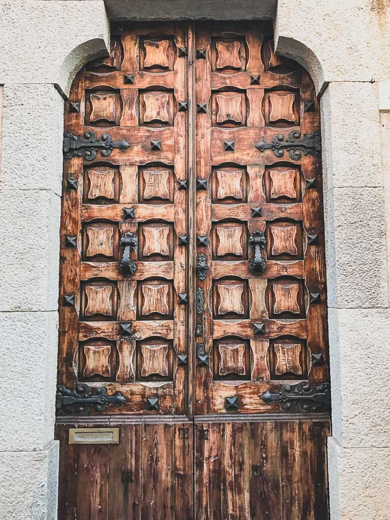 Door in the Tossa de Mar, Costa Brava
