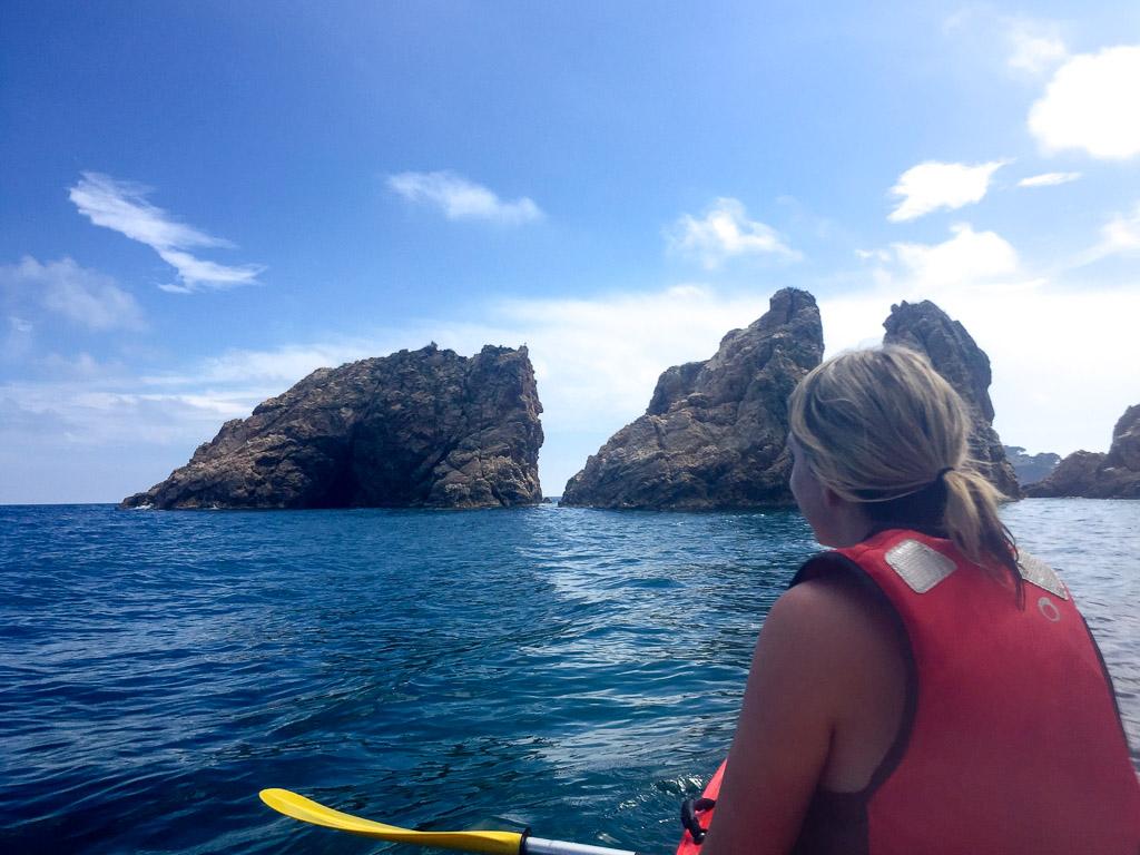 Kayaking in the Costa Brava