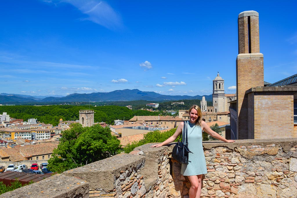 Old City Walls of Girona, Spain