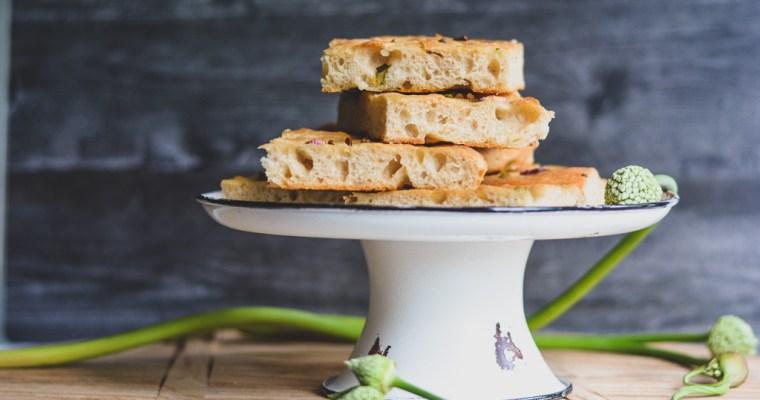 Garlic Scape & Spring Onion Focaccia