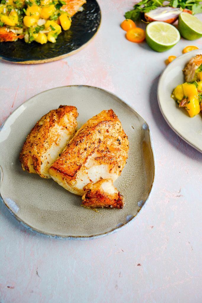 Pan Fried golden brown Tilapia