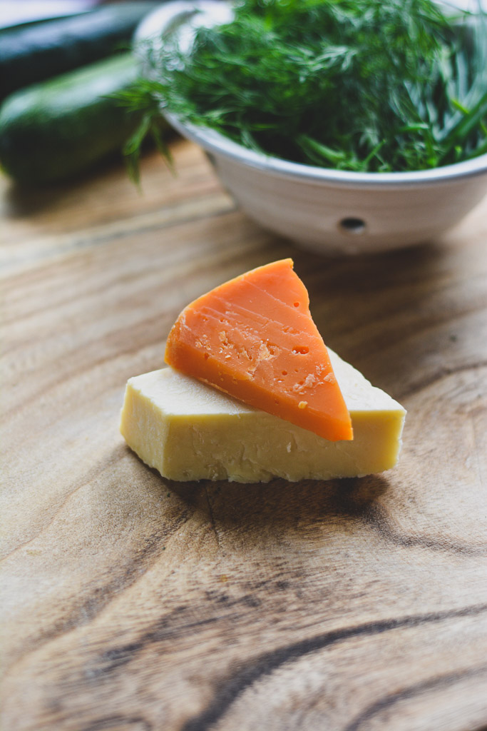 Cheddar Cheese and Mimolette Cheese