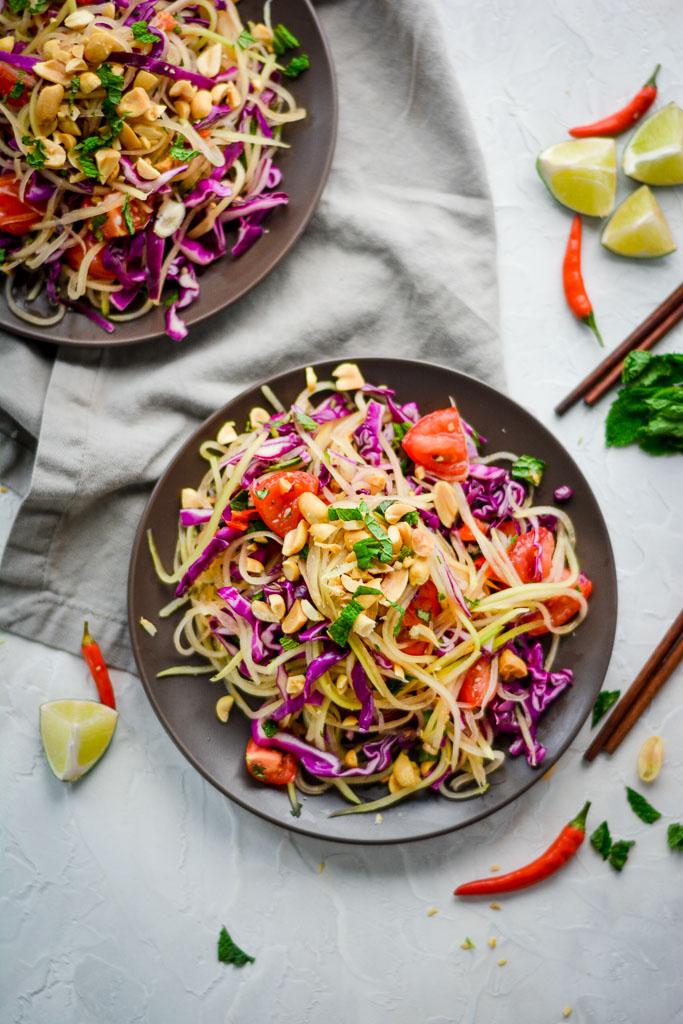 Crunchy Thai Papaya Salad - Som Tam