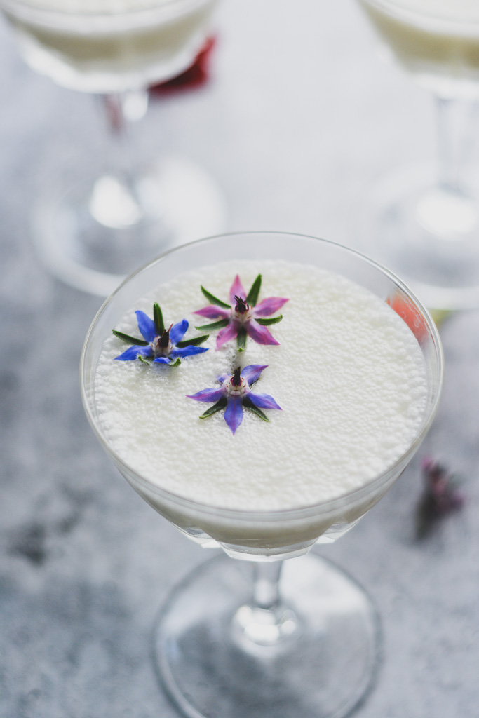 Gin Fizz made with Aquafaba