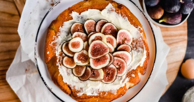 Italian Olive Oil Cake with Honeyed Mascarpone & Figs