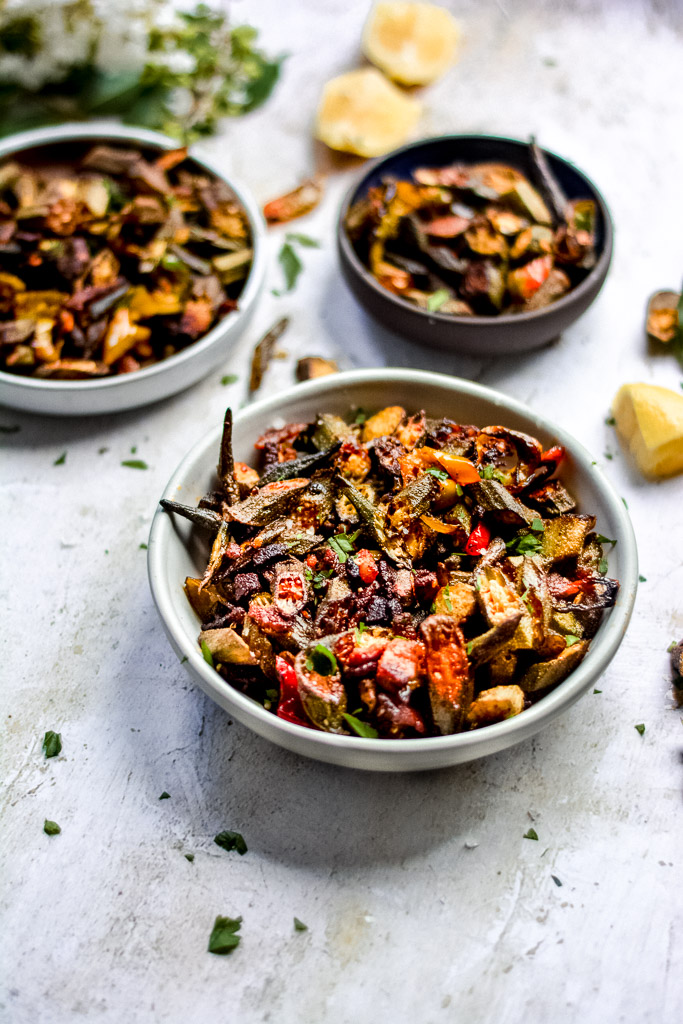 Baked Okra for a crowd
