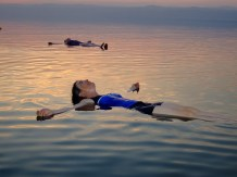 Floating in the Dead Sea, Israel/Jordan (found on Google)