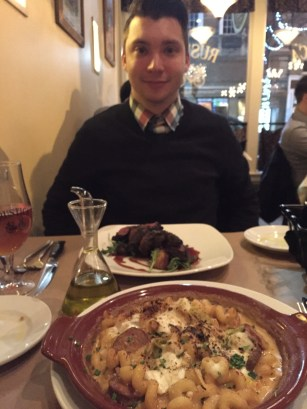 Our yummy Valentine's Day dinner at Rustica.