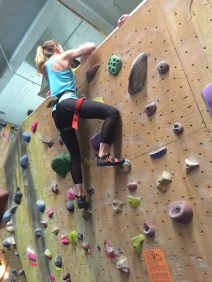 Kaitlyn topped out while bouldering on her second attempt! Beast.