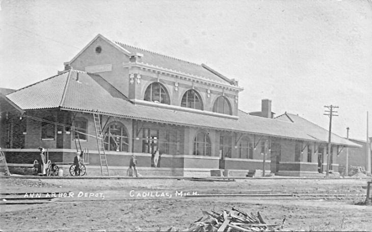 train station Cadillac Michigan