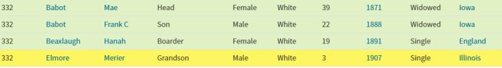 maurice 1910 census index