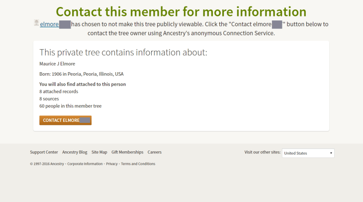 maurice elmore ancestry search