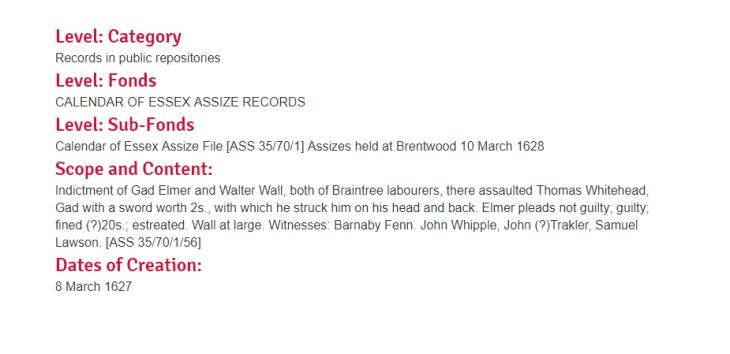 record for Elmer braintree whipple whitehead