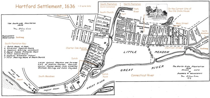 Hartford Map 1636