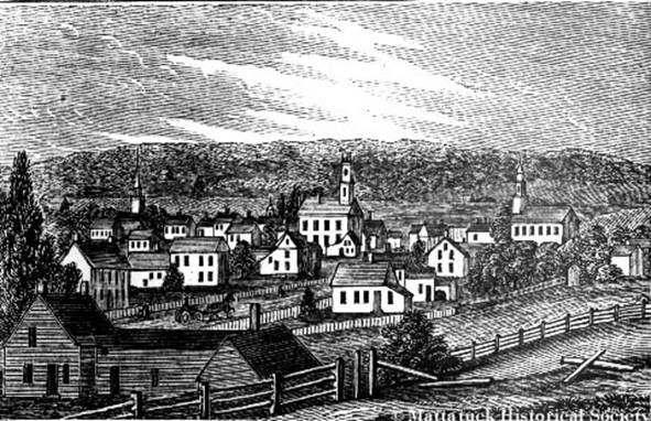 puritan town Waterbury, c. 1830
