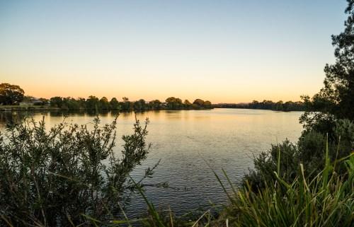 River bank camping