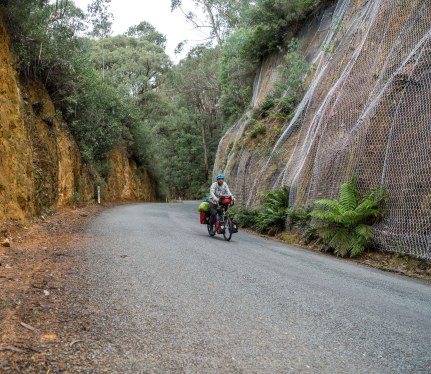 cycle touring snowy mountains australia
