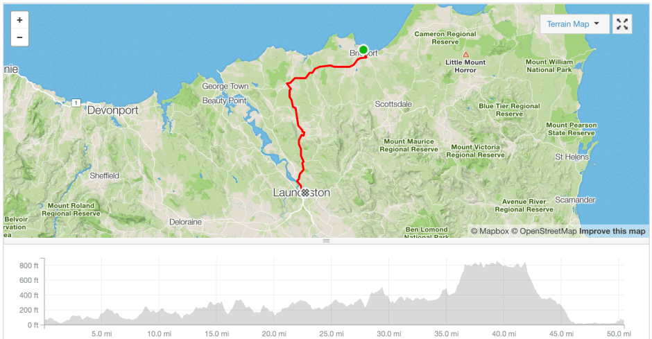 Bridport to Launceston cycle route Strava