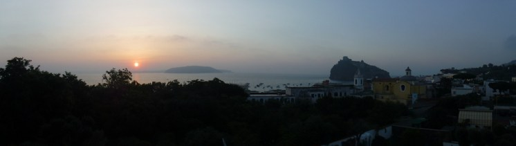 View of Ischia from our hotel