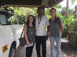 Saying farewell to our amazing driver, Sudesh.
