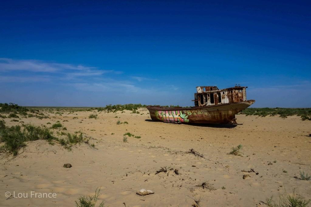 The former Aral Sea is a dark tourism destination in Uzbekistan