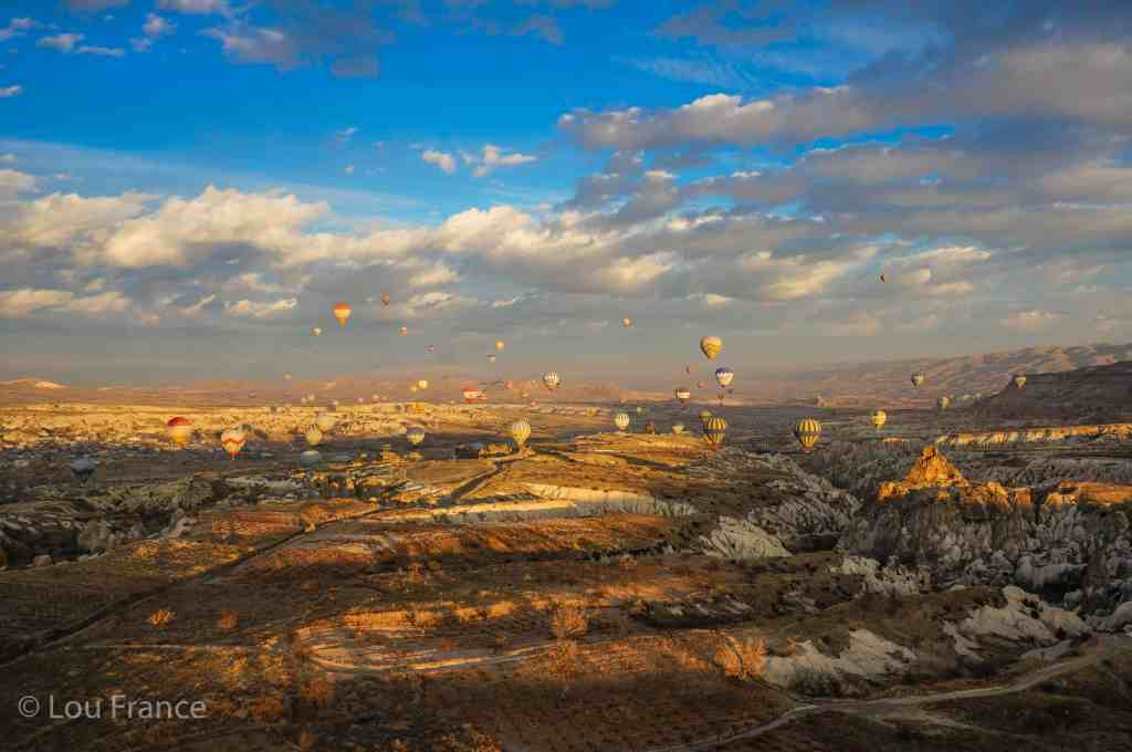 A sunrise balloon tour is a huge highlight on a Turkey road trip from Istanbul to Cappadocia