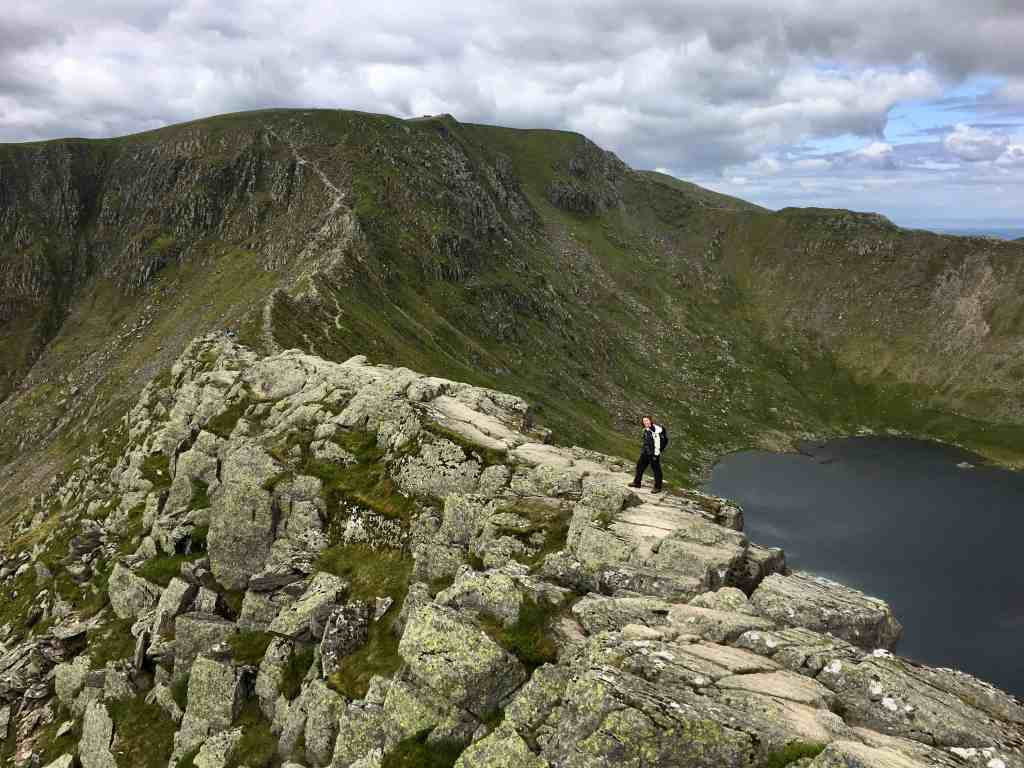 Striding Edge leads to the summit of Hevellyn which is the best Lake District hike