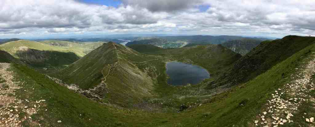 View from the summit of Helvellyn - the Lake District's Best Hike