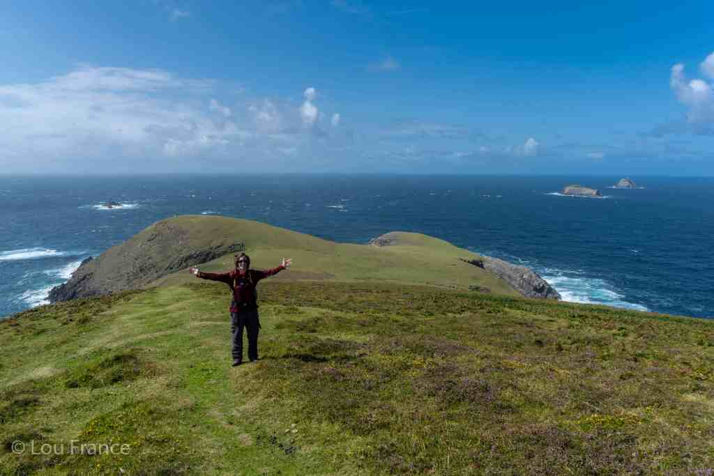 Me standing at the end of the Dursey Island walk.