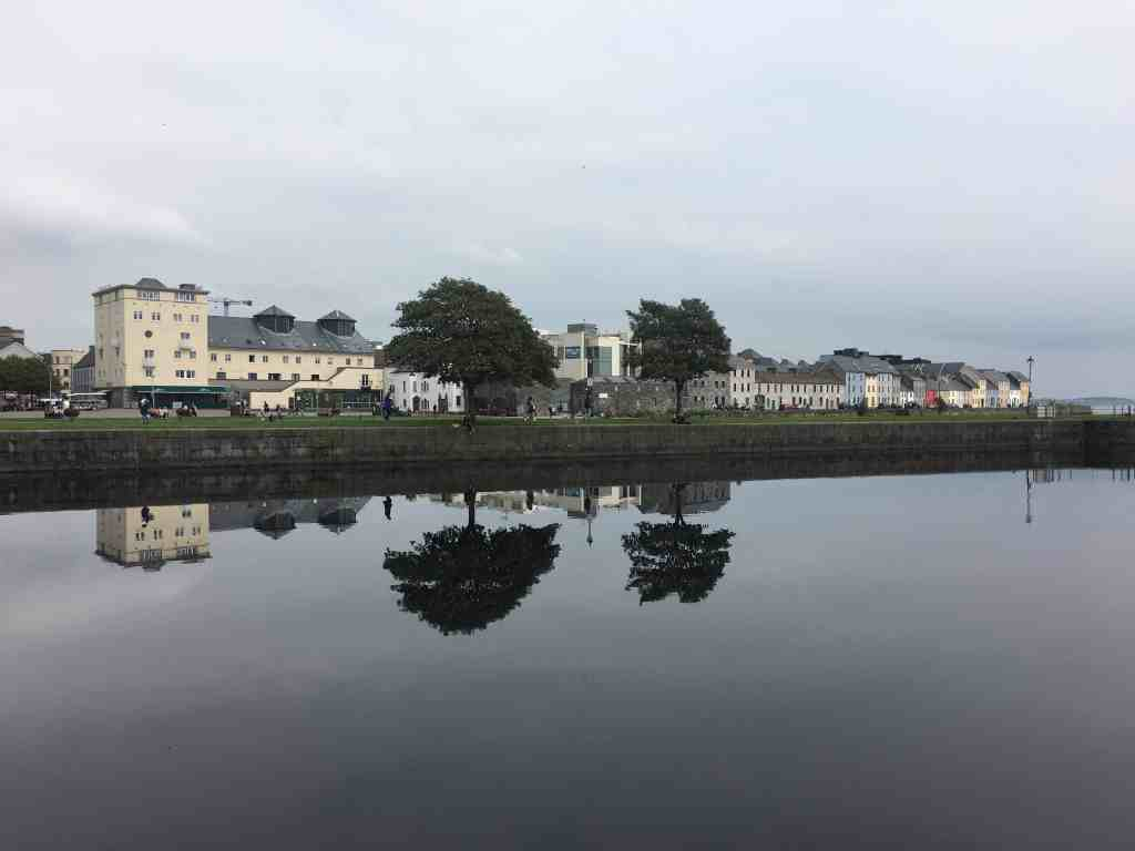 Enjoy river reflections during one day in Galway