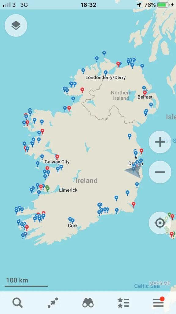 Ireland driving tour itinerary