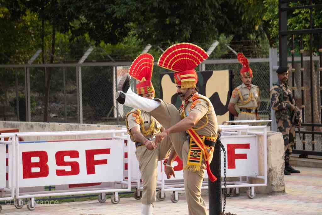 High kicks associated with the Wagah border ceremony
