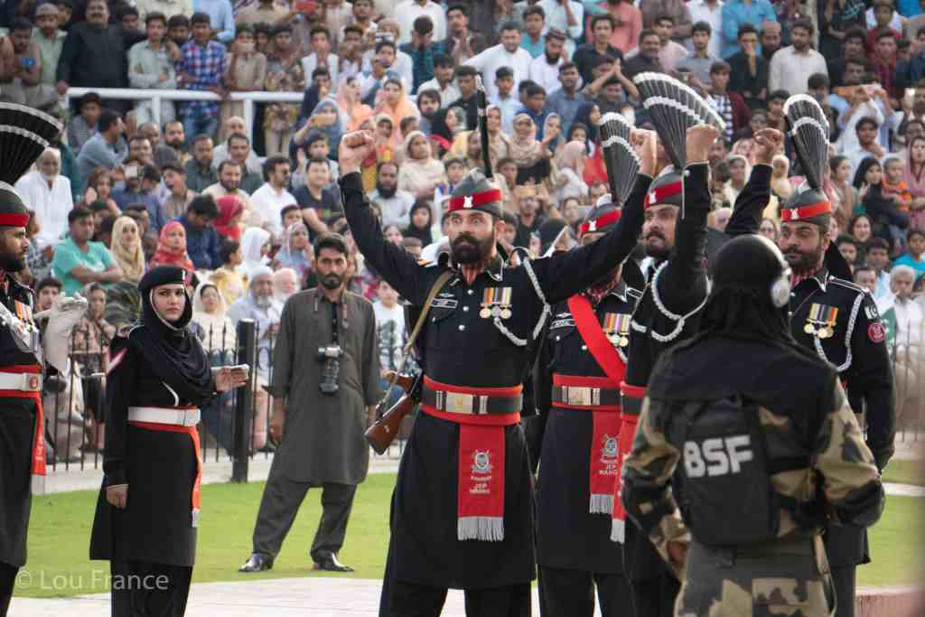 Pakistan officials at the Wagah border ceremony