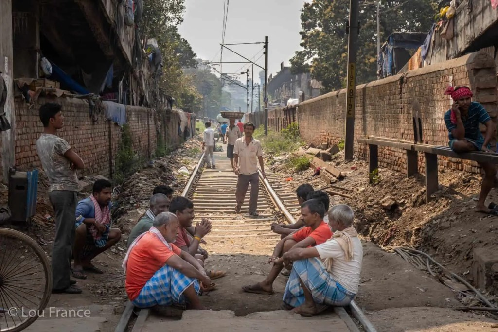 Train tracks are a great place for photography in Kolkata