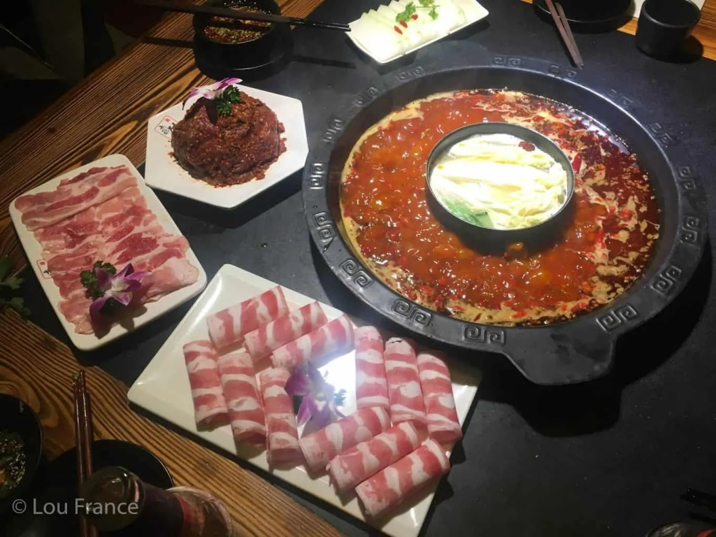 Sichuan hotpot with pigs brains or tripe is a weird Chinese food