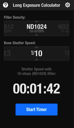 The long exposure calculator is one of the best apps for landscape photographers