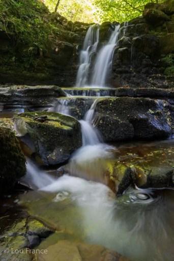 Ffrwdgrech falls is a hidden gem waterfall in Wales