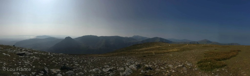 Views from the summit of Pen yr Ole Wen