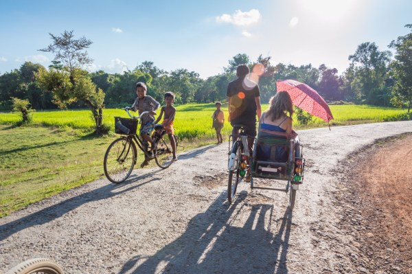 Trishaw ride in Mrauk U, Myanmar by Wandering Wheatleys
