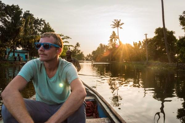 Sunset, Backwaters of Kerala, India