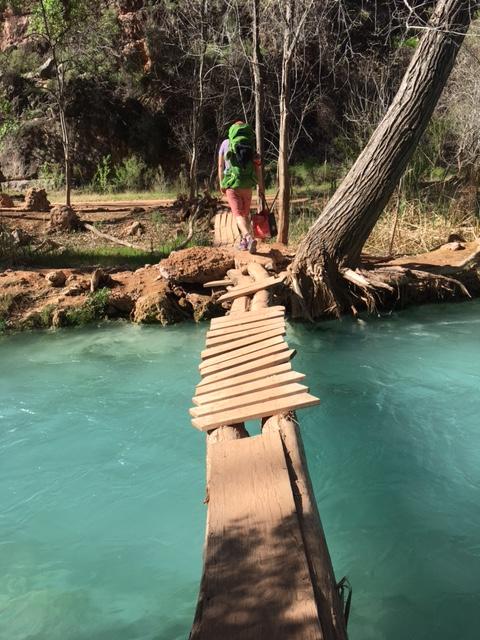 Questionable bridge at Havasu Falls by Wandering Wheatleys