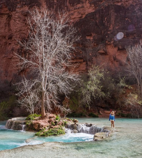 The hike to Beaver Falls, Havasu Canyon, Arizona by Wandering Wheatleys