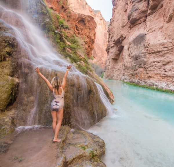 Natural shower in Havasu Canyon by Wandering Wheatleys