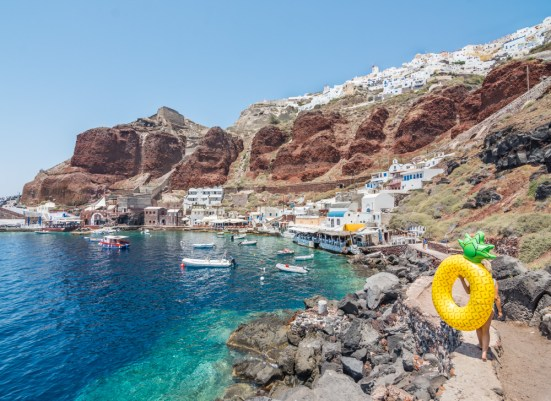 Ammoudi Bay, Santorini, Greece by Wandering Wheatleys