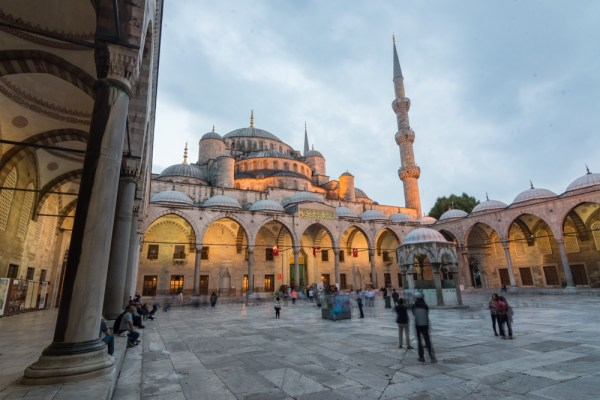 Evening at the Blue Mosque in Istanbul, Turkey by Wandering Wheatleys