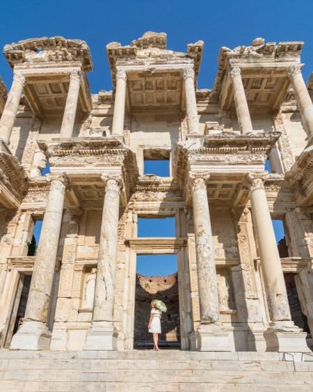 Celsus Library at Ephesus in Turkey by Wandering Wheatleys