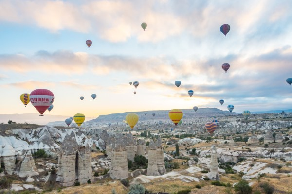 Hot Air Balloons over Cappadocia, Turkey by Wandering Wheatleys