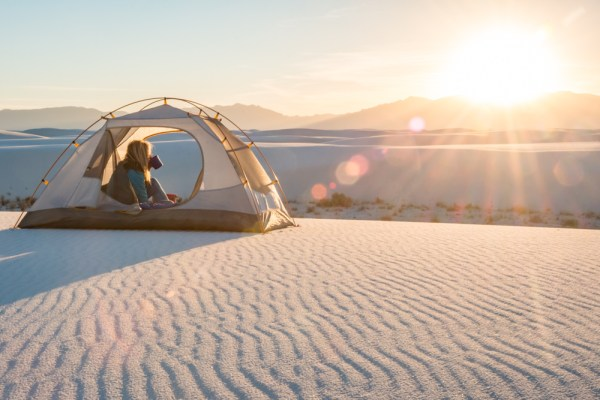 Sunset over White Sands National Monument, New Mexico by Wandering Wheatleys
